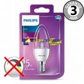 Philips LED kaarslamp 25 watt (4W) E14 | Helder