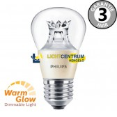 Philips LED kogellamp WARMGLOW 40 watt (6W) E27