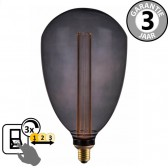 LED GIANT BALLON SceneSwitch DECO SMOKE 5W E27 | 3 standen dimbaar