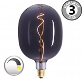 LED GIANT CURVE SMOKE DECO 4 watt E27 dimbaar | Egg 18 cm