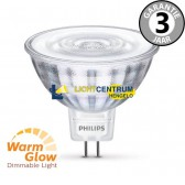 Philips LEDclassic 12 volt MR16 WARMGLOW 50 watt (7W) | Dimbaar