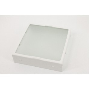 Inzetplaatje wit | diffuse glas wandlamp BLOQ A