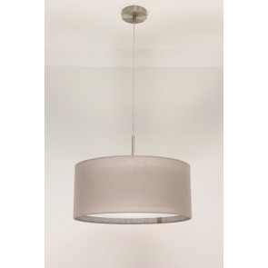 1-lichts hanglamp LACE staal | kap 1143 taupe Ø 45 cm
