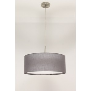 1-lichts hanglamp LACE staal | kap 1143 antraciet Ø 45 cm