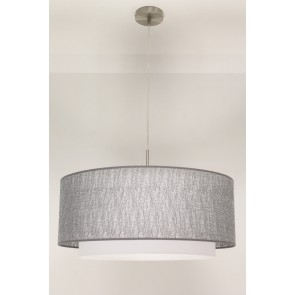 1-lichts hanglamp LACE staal | kap 2873 zilver Ø 61 cm