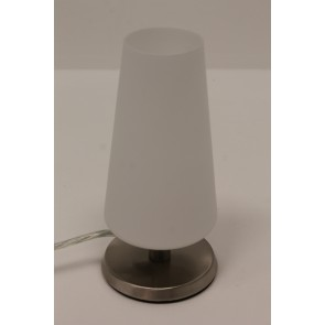 Tafellamp 78423 Staal met wit glas | Touchdimmer
