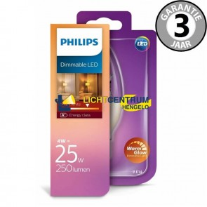 Philips LED kaarslamp WARMGLOW 25 watt (4W) E14