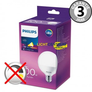 Philips LED globelamp 95 mm 100 watt (16,5W) E27 | Mat