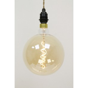 LED GIANT 1 globe 20 cm CURVE GOLD DECO 4 watt E27 dimbaar