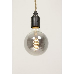 LED globe 80mm CURVE SMOKE DECO 4 watt E27 dimbaar