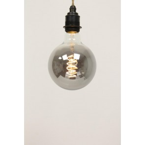 LED globe 125mm CURVE SMOKE DECO 4 watt E27 dimbaar