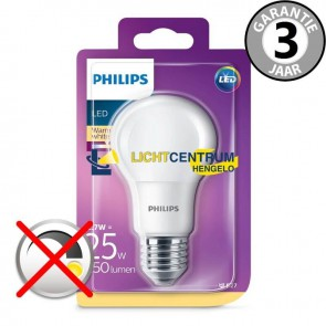 Philips LED standaardlamp 25 watt (8W) E27 | Mat