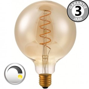 LED globe 125mm CURVE GOLD DECO 4 watt E27 dimbaar
