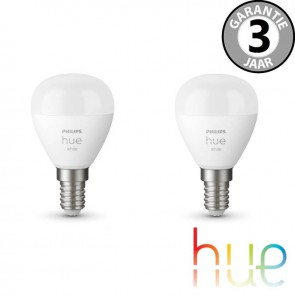 Philips Hue White E14 Duopack kogel