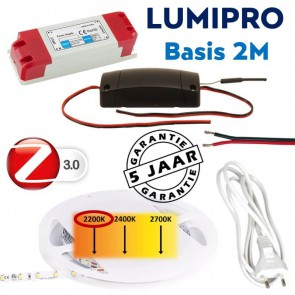 LUMIPRO basis 2M 4,8 watt 2200K zeer warm wit + ZigBee dimmer