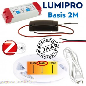 LUMIPRO basis 2M 9,6 watt 2400K extra warm wit + ZigBee dimmer
