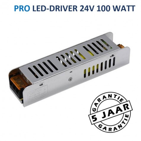 LED-driver 24 volt PRO max. 100 watt | Metalen behuizing