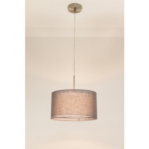 1-lichts hanglamp LACE staal   kap 0743 antraciet Ø 32 cm