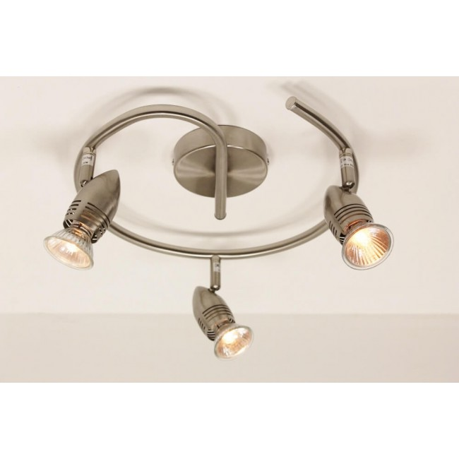 3 lichts spot cairo led staal spots verlichting for Cairo lampen