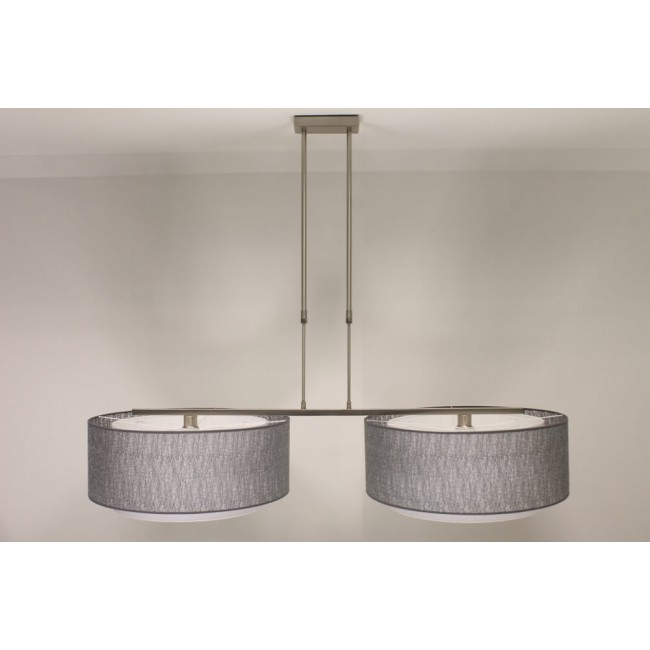 lichts hanglamp gia o staal kap 2873 zilver à 61 cm