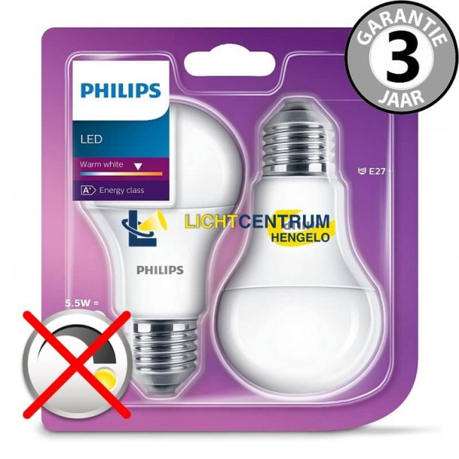 philips led standaardlamp 40 watt 5 5w e27 mat 2 stuks. Black Bedroom Furniture Sets. Home Design Ideas