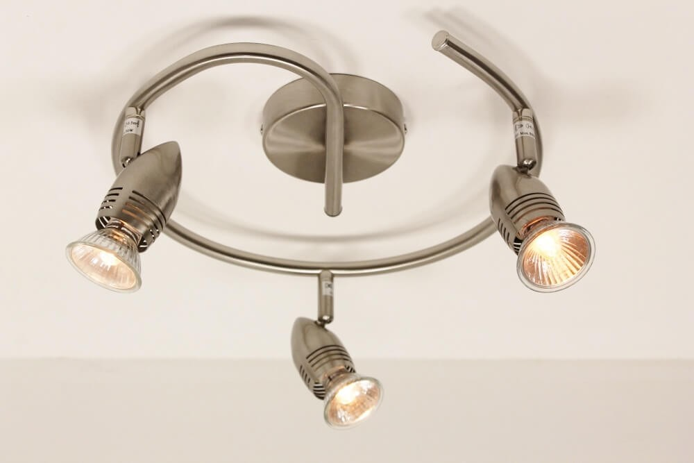 3 lichts spot cairo led staal opbouw spots spots for Cairo lampen