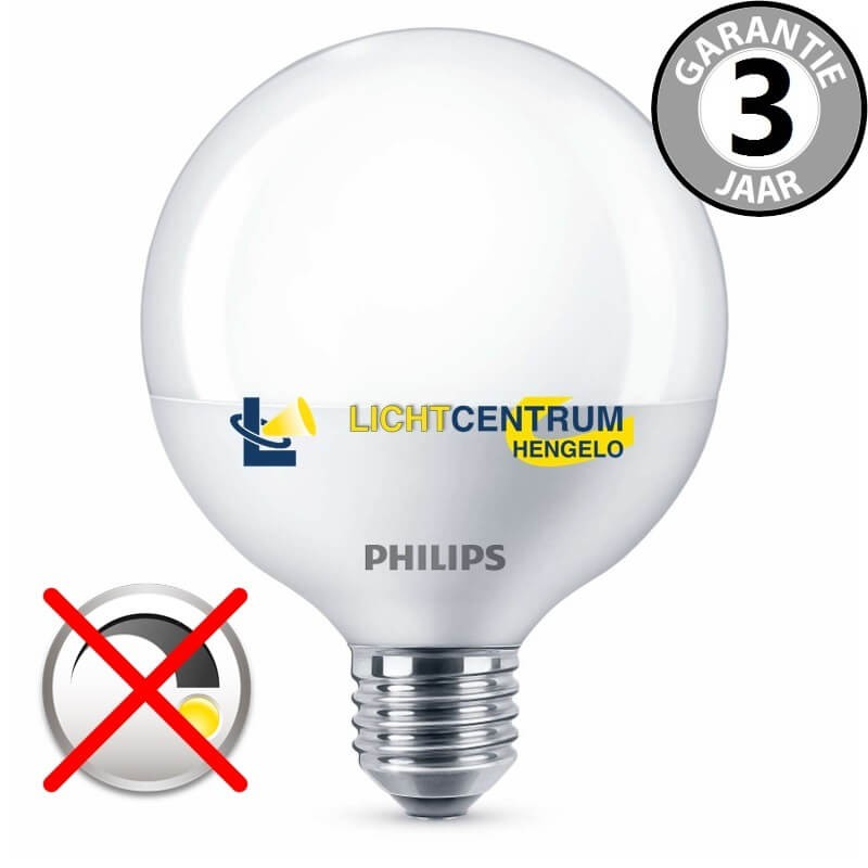 philips led globelamp 95 mm 100 watt 16 5w e27 mat led globes en giants led lampen. Black Bedroom Furniture Sets. Home Design Ideas