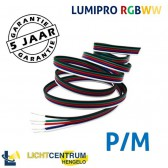 RGBWW LED-strip snoer 5-aderig | Per meter