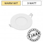 Inbouw LED paneel rond downlight 3 watt Ø 9 cm | warm wit
