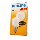 Philips kogellamp Mat 60 watt E14 | Duopack