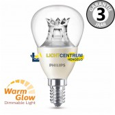 Philips LED kogellamp WARMGLOW 40 watt (6W) E14