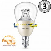 Philips LED kogellamp WARMGLOW 60 watt (8W) E14