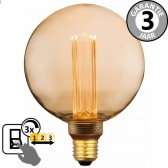 LED globe 125mm SceneSwitch DECO GOLD 5W E27 | 3 standen dimbaar