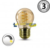 LED kogel GOLD SPIRAL DECO 3,5 watt E27 dimbaar