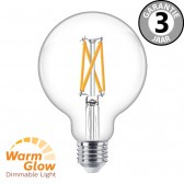 Philips LEDclassic globe 95mm WARMGLOW 60 watt (7W) E27 | Helder