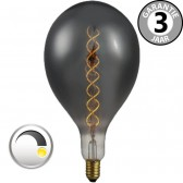 LED GIANT CURVE SMOKE DECO 4 watt E27 dimbaar | Peer 16 cm
