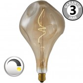 LED GIANT CURVE GOLD DECO 4 watt E27 dimbaar | Gedeukte peer 16 cm
