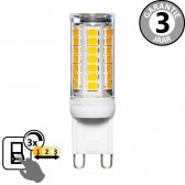 LED capsule G9 30 watt (3W) 2700K warm wit | 3 standen dimmer