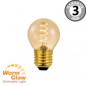 LED kogellamp CURVE GOLD DIMTONE 4 watt E27 | WARMGLOW dimbaar
