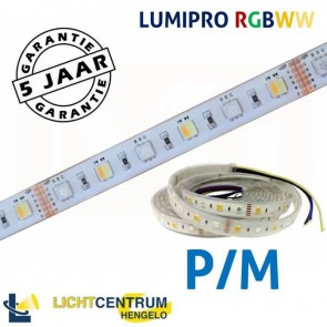 LUMIPRO LED-strip RGB + Wit 2400K-6500K IP65 | Per meter