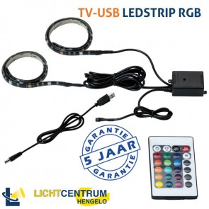 TV-USB LED-strip 2x 50 cm met USB-aansluiting | RGB