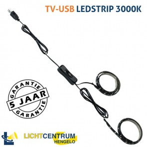 TV-USB LED-strip 2x 50 cm met USB-aansluiting | helder warm wit