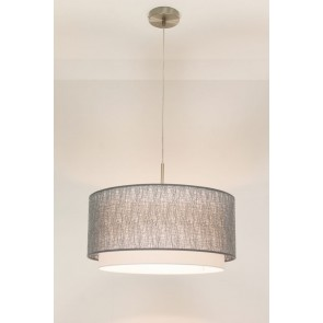 1-lichts hanglamp LACE staal | kap 2973 zilver Ø 47 cm