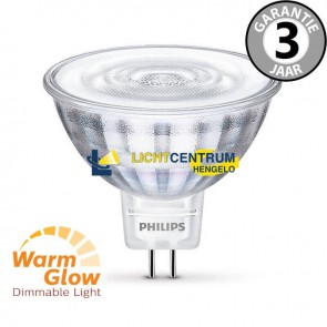 Philips LEDclassic 12 volt MR16 WARMGLOW 35 watt (5W) | Dimbaar