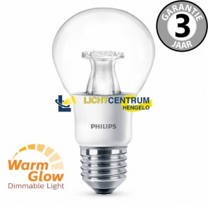 Philips LED standaard WARMGLOW 40 watt (6W) E27 | Helder