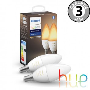 Philips Hue White Ambiance E14 duopack
