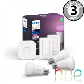 Philips Hue White Ambiance en Color Starterspack E27 3 lampen