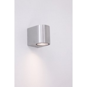 Buitenlamp / Wandlamp ZORA LED 1-lichts rond | Staal