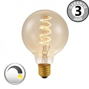 LED globe 80mm CURVE GOLD DECO 4 watt E27 dimbaar