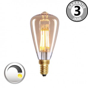 LED mini Rustika CURVE GOLD DECO 4 watt E14 dimbaar